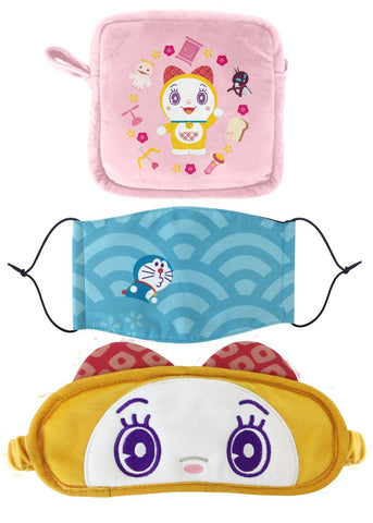 Doraemon Magic Props Taiwan 7-11 Limited Eye Mask & Mask Travel Sleep Set Dorami ver