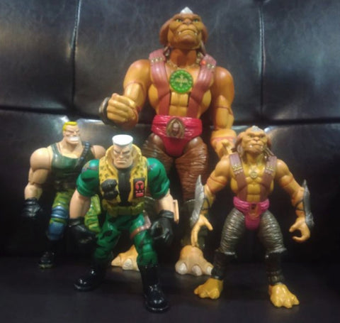Small Soldiers Commando Elite 4 Action Figure Set Used
