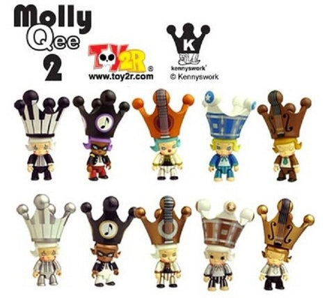 Toy2R Kenny's Work Kenny Wong Molly The Painter Molly Qee Series 2 10 Vinyl Figure Set - Lavits Figure