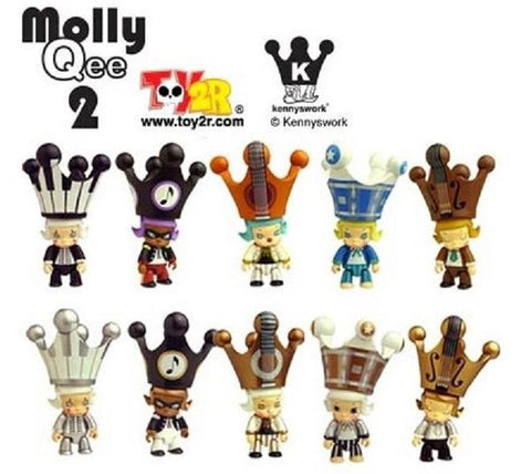 Toy2R Kenny's Work Kenny Wong Molly The Painter Molly Qee Series 2 10+1 Secret 11 Vinyl Figure Set - Lavits Figure  - 1