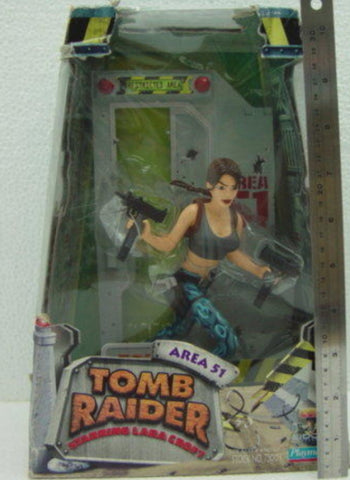 "Playmates Tomb Raider Lara Croft Area 51 9"" Display Dioramas Trading Figure"