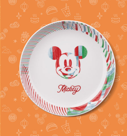 Disney 90th Anniversary Family Mart Limited Mickey Mouse Ceramics Plate Dish
