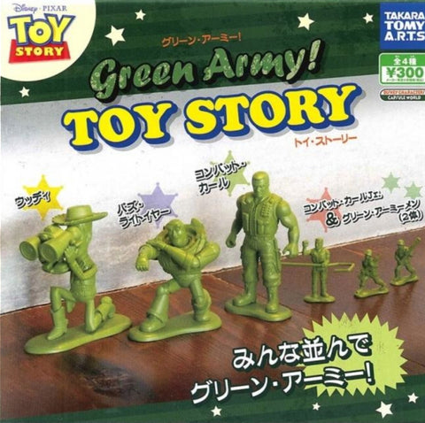 Takara Tomy Disney Pixar Toy Story Gashapon Green Army 4 Figure Set