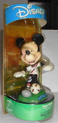 Disney Bobble Dobbles Soccer Mickey Mouse Bobblehead Doll Trading Figure
