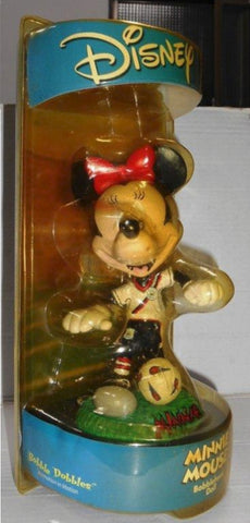 Disney Bobble Dobbles Soccer Minnie Mouse Bobblehead Doll Trading Figure