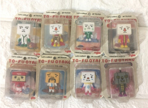 Yujin To Fu Oyako 8 Mascot Trading Figure Set Used
