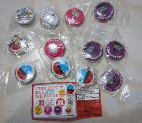 Yujin Expo 2005 Can Badge To Fu Oyako 12 Random Figure Set