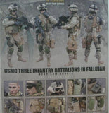 "Hot Toys 1/6 12"" USMC Three Infantry Battalions in Fallujah M249 Saw Gunner Action Figure"