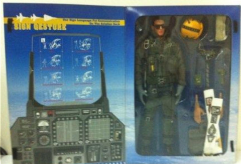 "Hot Toys 1/6 12"" U.S. Air Force Combat Aircrew Pilot White Ver Action Figure"