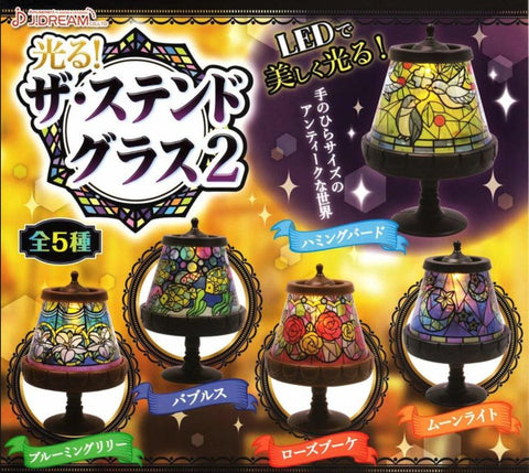 J.Dream Gashapon The LED Stained Glass Table Lamp Part 2 5 Collection Figure Set