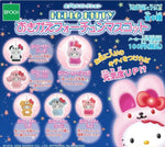 Epoch Sanrio Hello Kitty Gashapon Cosplay 6 Mascot Swing Strap Figure Set