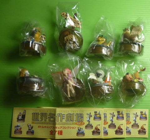 Kaiyodo Movic K&M World Of Masterpiece Theater Bottle Cap Collection Vol 2 7+1 Secret 8 Trading Figure Set
