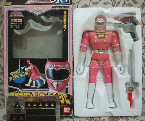 Bandai Power Rangers Turbo Carranger Pink Racer Fighter Action Figure Used