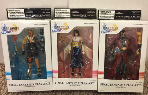 Square Enix Final Fantasy X 10 Play Arts No 1 Tidus No 2 Yuna No 3 Auron 3 Action Figure Set