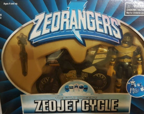 Bandai Power Rangers Zeo Ohranger Zeojet Cycle Ranger Black Action Figure
