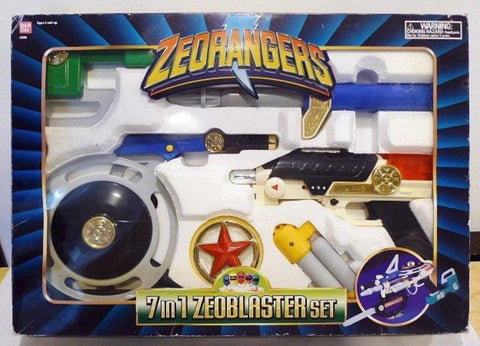 Bandai Power Rangers Zeo Super Sentai Ohranger 7 in 1 Zeo Blaster Weapon Trading Figure Play Set