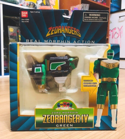Bandai Power Rangers Zeo Ohranger Real Morphin Action IV Green Fighter Action Figure