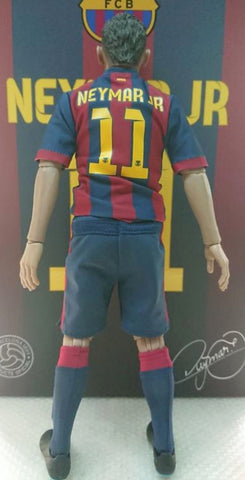 "ZCWO 12"" 1/6 FCB Neymar Jr Action Figure Used"