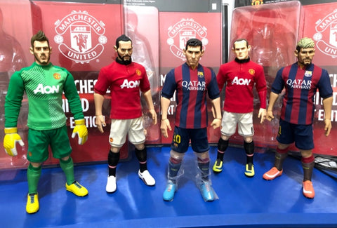 "ZCWO 1/6 12"" Fools Paradise De Gea Giggs Messi Rooney Neymar Jr 5 Action Figure Set Used"