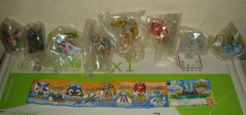 Bandai Digimon Digital Monster Gashapon Season 4 Part 4 8 Mini Swing Strap Collection Figure Set