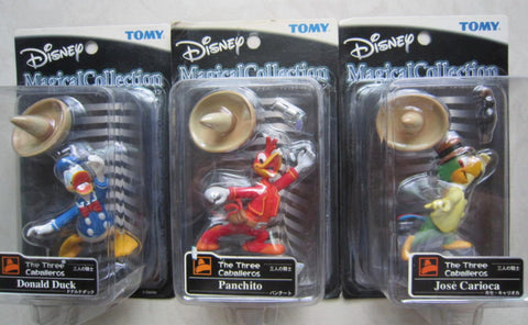Tomy Disney Magical Collection The Three Caballeros 064 Donald Duck 065 Jose Carioca 066 Caballeros Panchito 3 Trading Figure Set