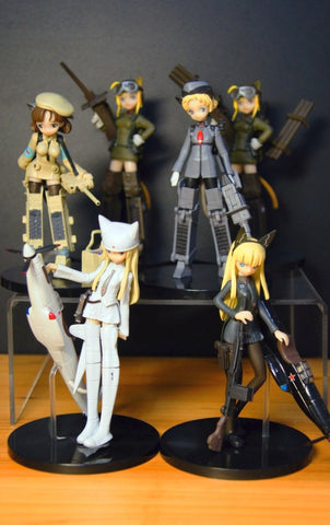 Konami Mecha Musume Military Army Girl Part 2 6 Trading Collection Figure Set Used
