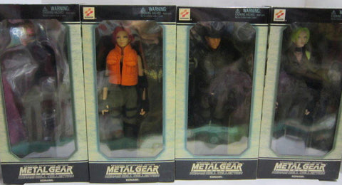 "Yamato 1/6 12"" Metal Gear Solid Konami Doll Collection 4 Action Figure Set"