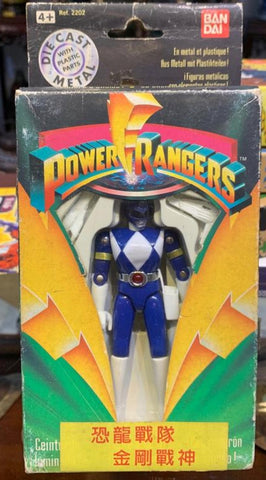 Bandai Power Rangers Kyoryu Sentai Zyuranger Chogokin Die Cast Blue Fighter Action Figure