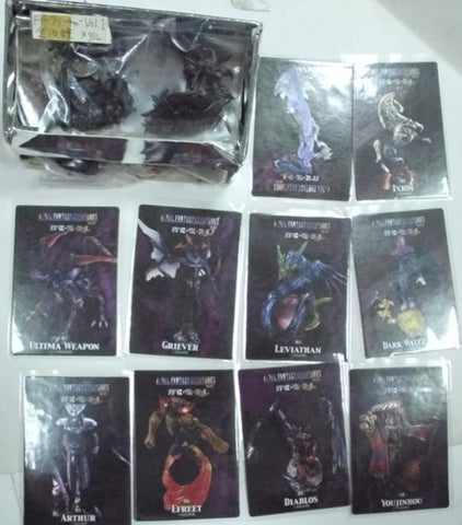 Square Enix Final Fantasy Creatures Archive Vol 1 9+1 Secret Silver ver Trading Figure Set