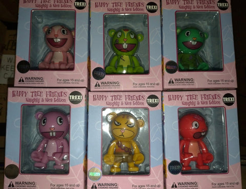 "Play Imaginative Trexi Happy Tree Friends Naughty & Nice Edition 6 2.5"" Vinyl Figure Set"