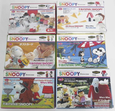 Medicom Toy Kubrick 100% Peanuts Snoopy & Woodstock Showcase Vol 1+2+3+4+5+6 Trading Figure
