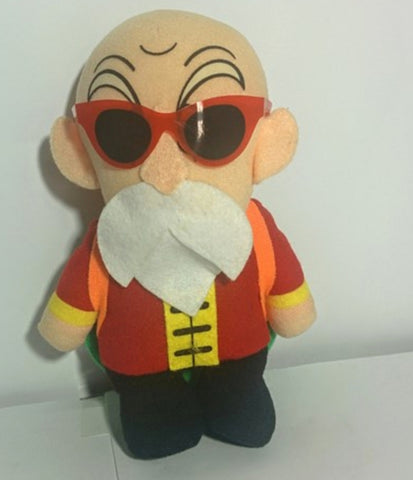 "Bandai 1992 Dragon Ball Z DBZ Roshi 5"" Plush Doll Figure"