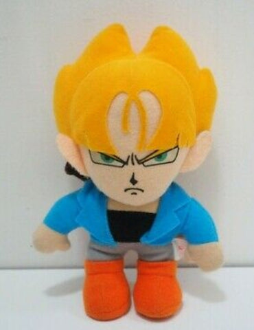 "Bandai 1992 Dragon Ball Z DBZ Super Saiyan Trunks 5"" Plush Doll Figure"