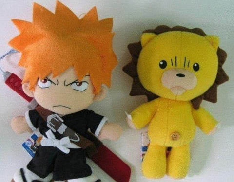 "Banpresto 2005 Bleach DX Plush Doll  Kurosaki Ichigo & Kon 18"" Collection Figure Set"