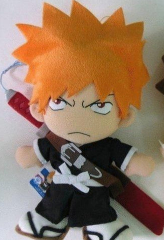 "Banpresto 2005 Bleach DX Plush Doll  Kurosaki Ichigo 18"" Collection Figure"