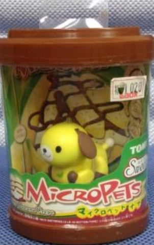 Tomy Micropets My Little Pet Electronic Interactive Toy Yellow Dog Banana Crepe Trading Figure