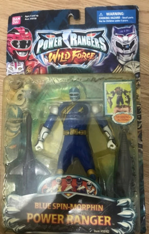 Bandai Power Rangers Wild Force Gaoranger Blue Spin Morphin Fighter Action Figure