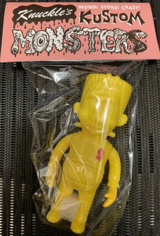 "Headlock Studio Knuckle's Kustom Mini Lil Franky All Yellow ver 4"" Vinyl Figure"
