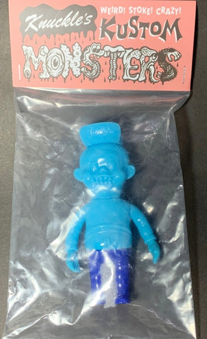 "Headlock Studio Knuckle's Kustom Mini Lil Franky Blue ver 4"" Vinyl Figure"
