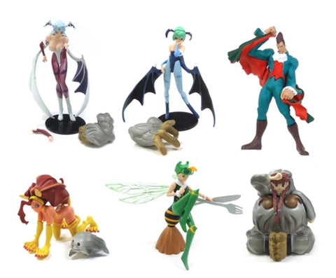 Yujin SR Series Vampire Savior Gashapon Capsule Part 1 SP ver 6 Mini Figure Set Used