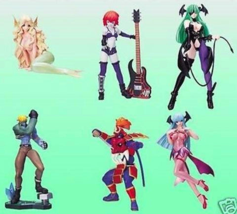 Yujin SR Series Vampire Savior Gashapon Part 3 6 Mini Figure Set