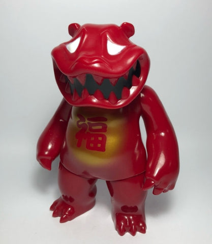 "Mad Panda Factory Hariken Mad Panda Fortune Red ver 7"" Vinyl Figure Used"