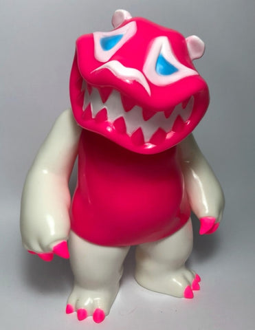 "Mad Panda Factory Hariken Mad Panda White & Pink ver 7"" Vinyl Figure Used"