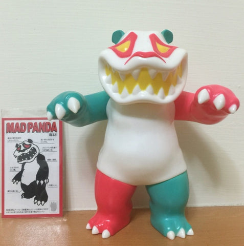 "Mad Panda Factory Hariken Mad Panda White & Pink & Mint Green ver 7"" Vinyl Figure Used"