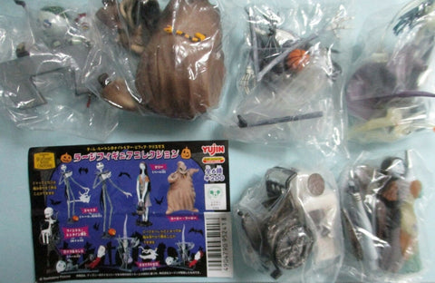 Yujin Disney Capsule World Tim Burton The Nightmare Before Christmas Gashapon Part 1 Now And Forever 5 Collection Figure Set