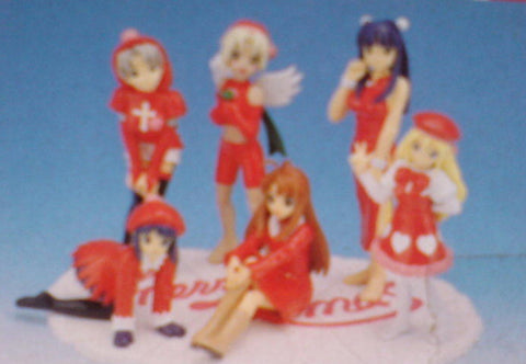 Sega Love Hina Characters Collection Christmas ver Part 1&2 6 Trading Figure Set