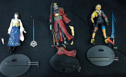 Square Enix Final Fantasy X 10 Play Arts No 1 Tidus No 2 Yuna No 3 Auron 3 Action Figure Set Used