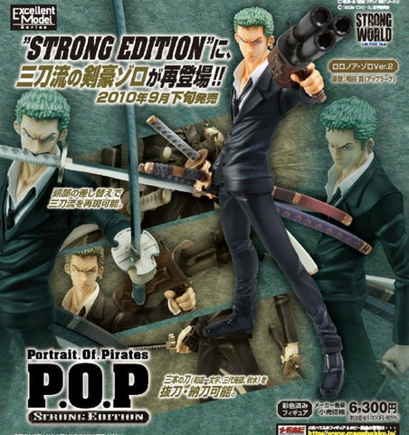 Megahouse 1/8 One Piece POP Rorona Zoro Strong World ver Pvc Figure