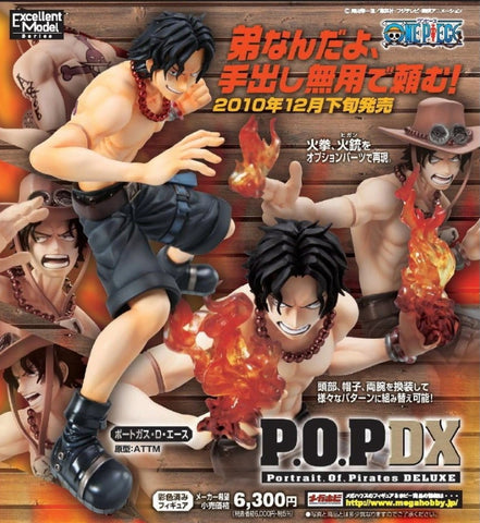 Megahouse 1/8 One Piece POP DX Portgas D. Ace ver Pvc Figure