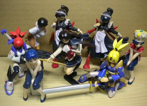 Yujin Street Fighter Fighting Jam Gashapon Real Collection Part 2 6+2 Secret 8 Figure Set Used